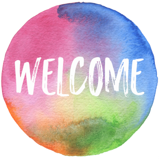 Welcome.WatercolorCircle
