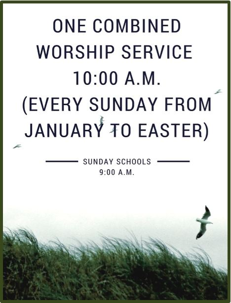 One service to easter