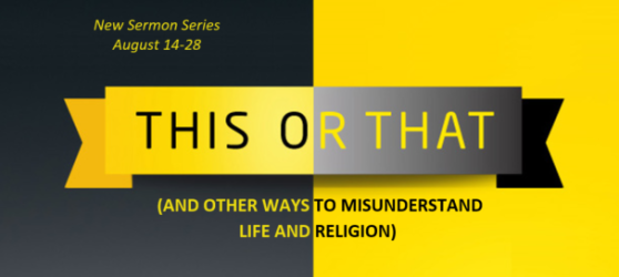 New Sermon Series